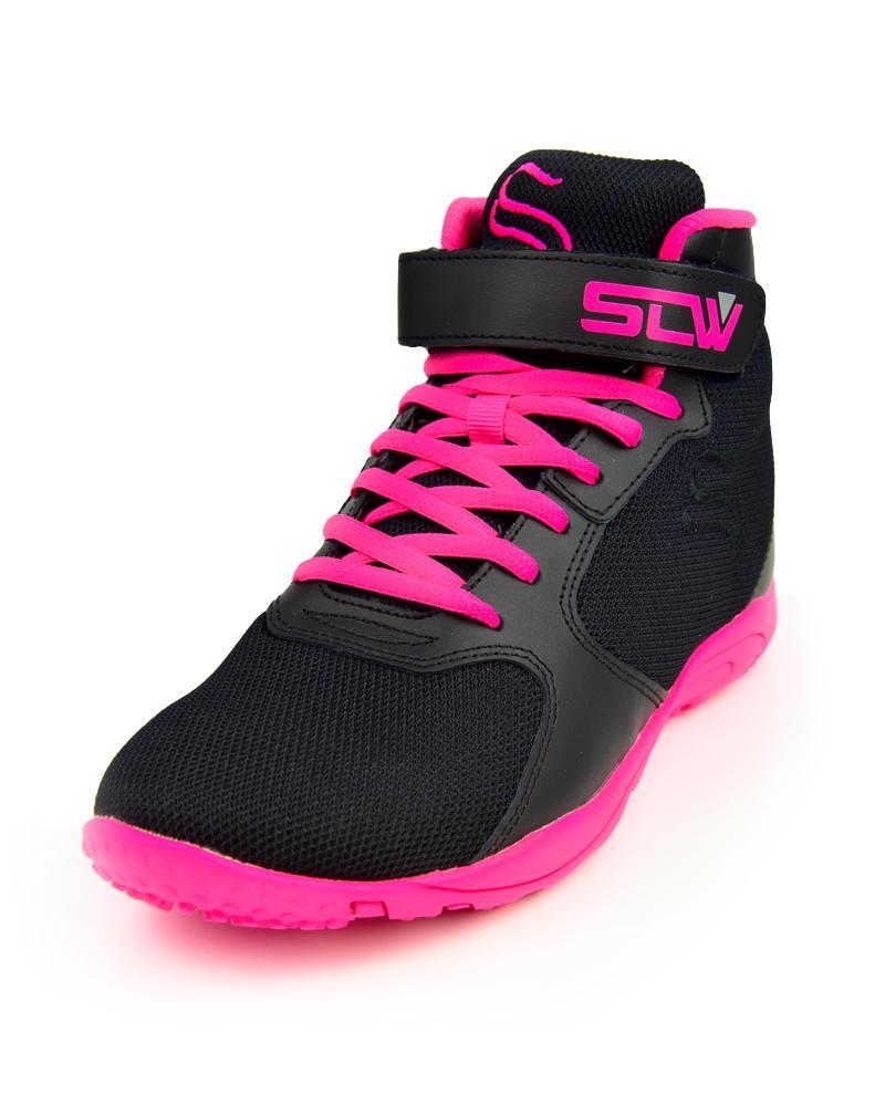 Womens Hurricane High-Top Gym Shoes Accessories Strong Liftwear Black/Pink 6 US