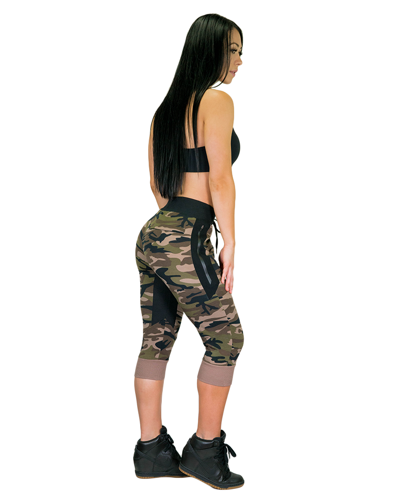 Womens MeshTech 3/4 Training Pants Womens Strong Liftwear XS Camo Green