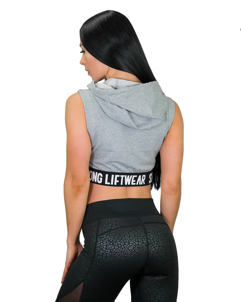 Womens Signature Cropped Hoodie Womens Strong Liftwear