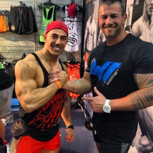 Eddy Ung and supporter Adam at FitX 2014