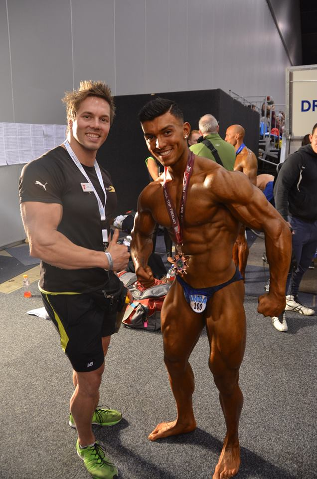 Aaron Curtis & Nathan Roe backstage at the INBA Southern Cross Championships 2014