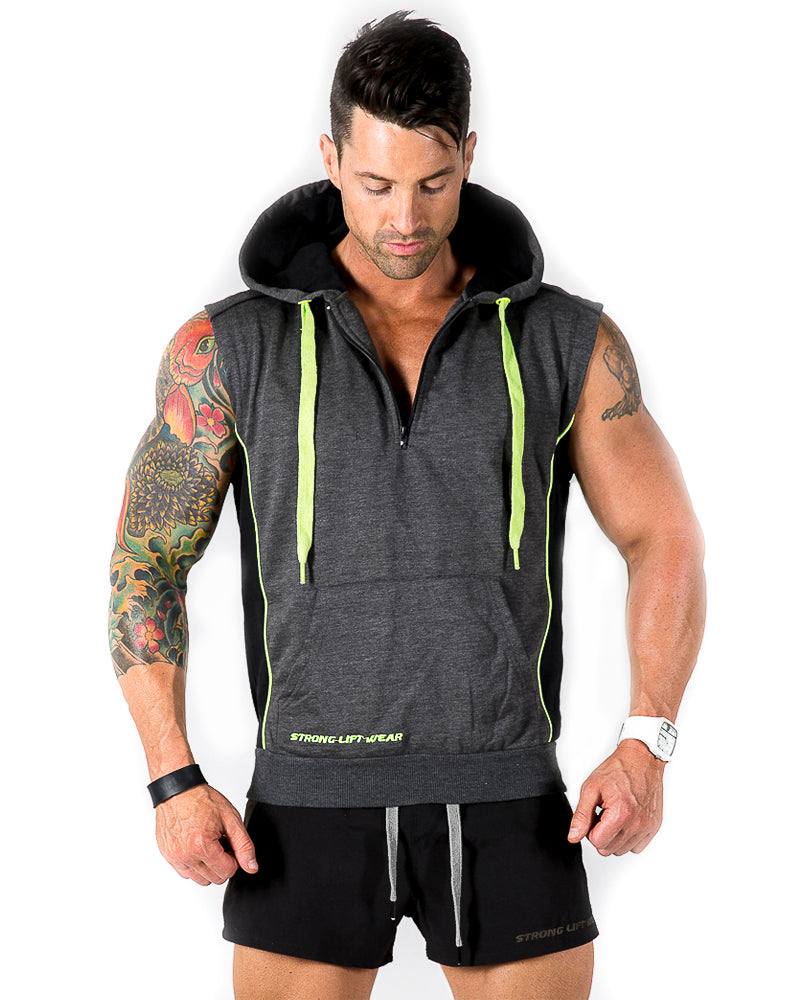 Shane Berland looking boss in the electric Sleeveless Hoodie