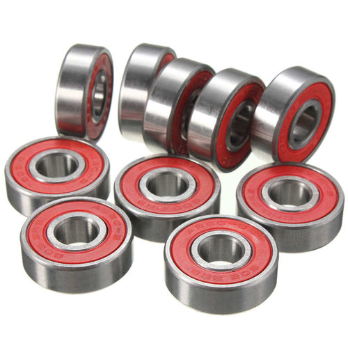HOT 10Pcs Rotation Speed Skateboard Skate Longboard ABEC-9 608RS Steel Bearings Solid and Durable Shafts