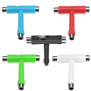 Skateboard Tool Scooter Longboard T shape Multifunctional Wrench Adjusting Tool free shipping