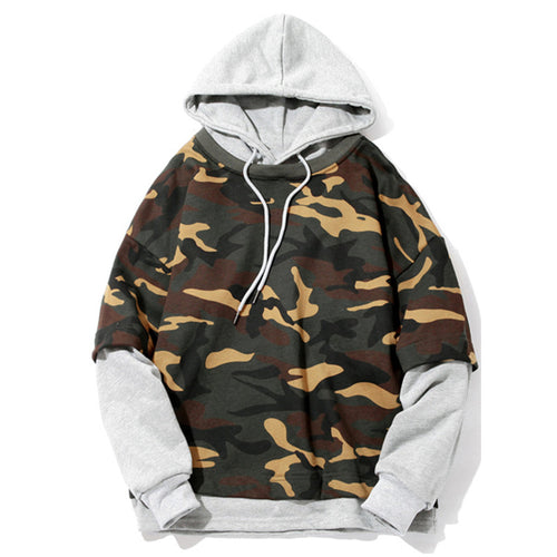 Skateboard Hoodie Army Camouflage Printed Hoodies Men Fashion Casual Hip Hop Tracksuit Male Sweatshirt Hoody Pullover Mens Boys
