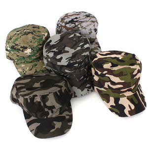 High Quality Men Women Camouflage Camo Snapback Hats Adjustable Skateboard Hip Hop Cap Falt Hat for Outdoor Hunting Gifts