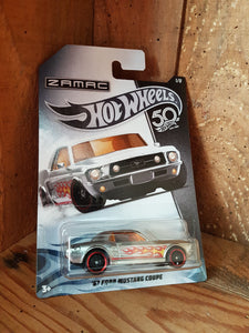Hot Wheels '67 Ford Mustang coupé ZAMAC 50th