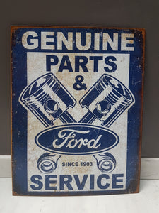 Grande plaque métallique Genuine FORD