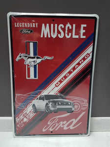 Plaque métallique FORD MUSTANG muscle