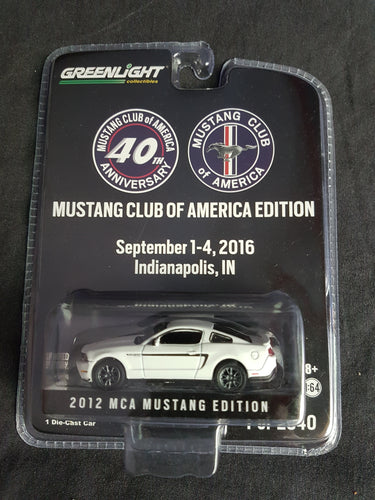 EDITION LIMITÉE Greenlight 2012 MCA Mustang Edition Mustang Club of America 40th