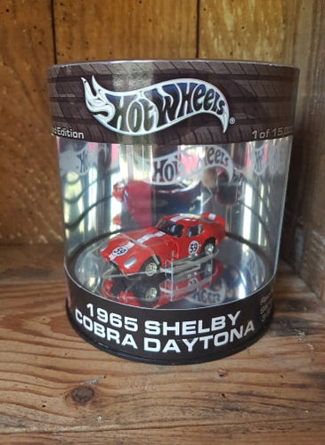 Hot Wheels Limited edition Can Oil 1965 SHELBY COBRA DAYTONA rouge