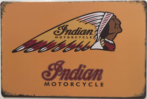 Plaque métallique Indian Motorcycle