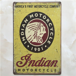 Plaque métallique Indian Motorcycle 1901