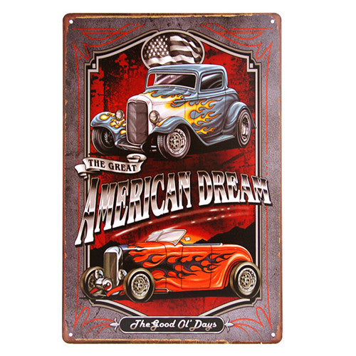 Plaque métallique Hot Rod American Dream