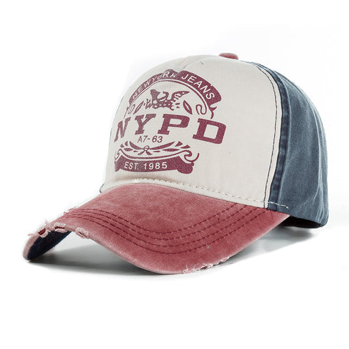 Casquette vintage NYPD rouge