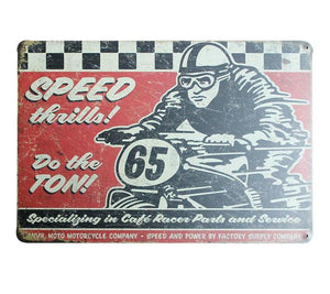 Plaque métallique SPEED Cafe Racer
