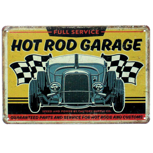 Plaque métallique Hot Rod Garage Service