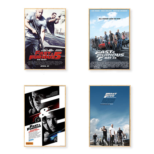 Affiche toile Fast and Furious (plusieurs choix)