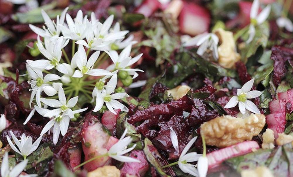 Garlic & Beetroot Salad with Hemp Oil Dressing