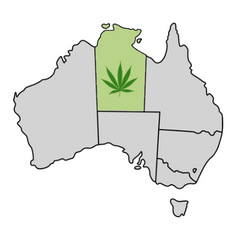 Northern Territory Cannabis Laws Map