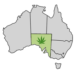 South Australia Cannabis Laws Map