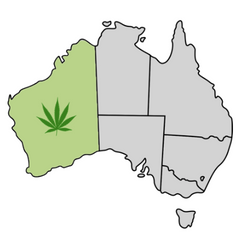 Western Australia Cannabis Laws Map
