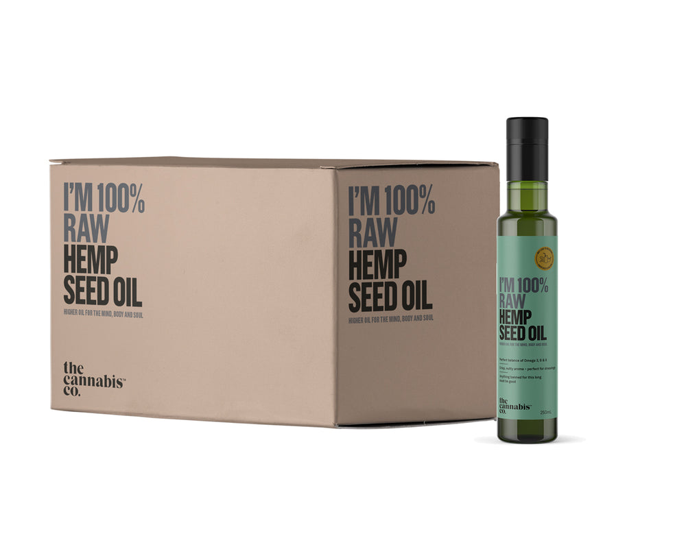 Hemp Seed Oil – 100% Raw – Box of 6 x 250ml bottles (MINIMUM ORDER SIZE: 4 BOXES)
