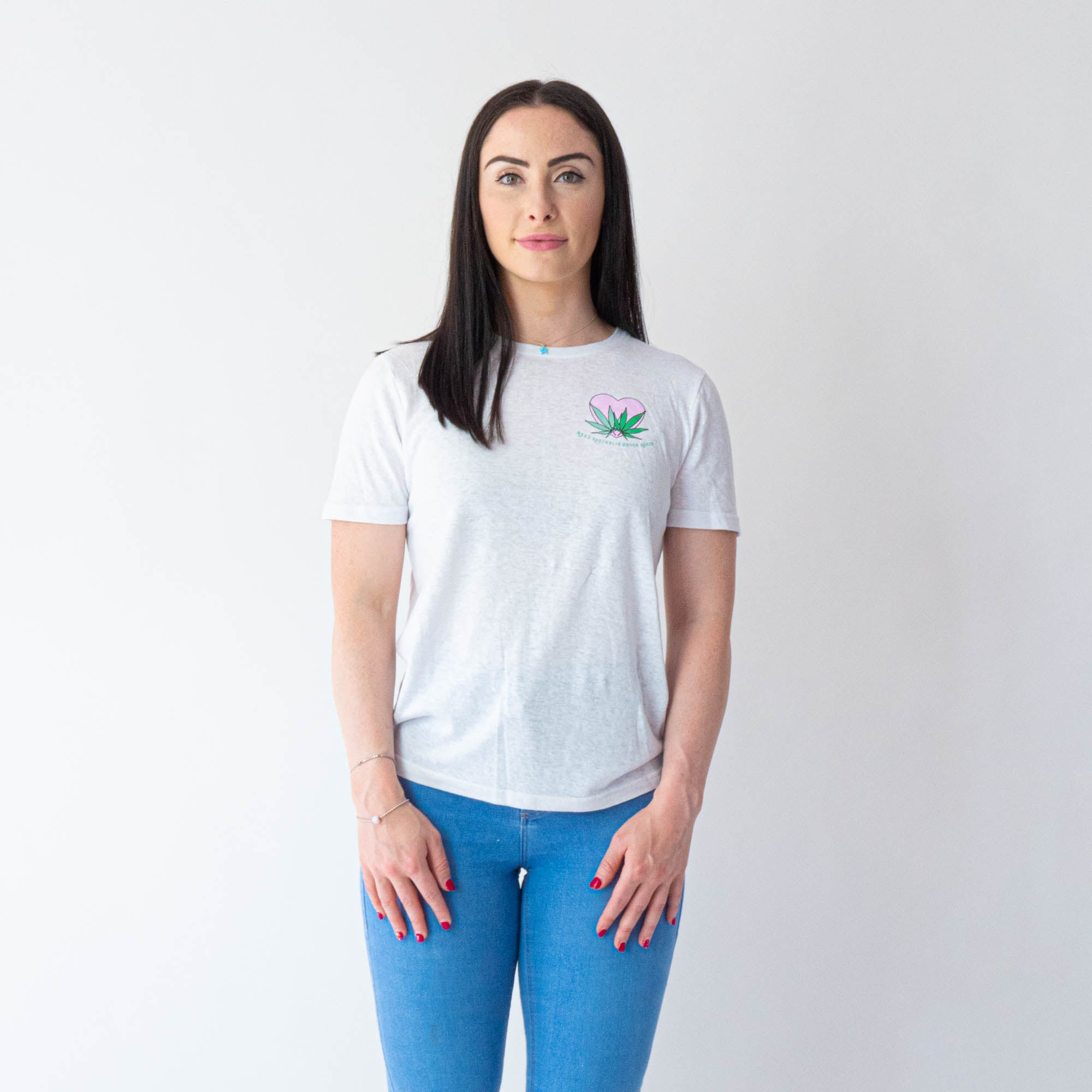 Love Your Greens White Hemp Tee (Womens)