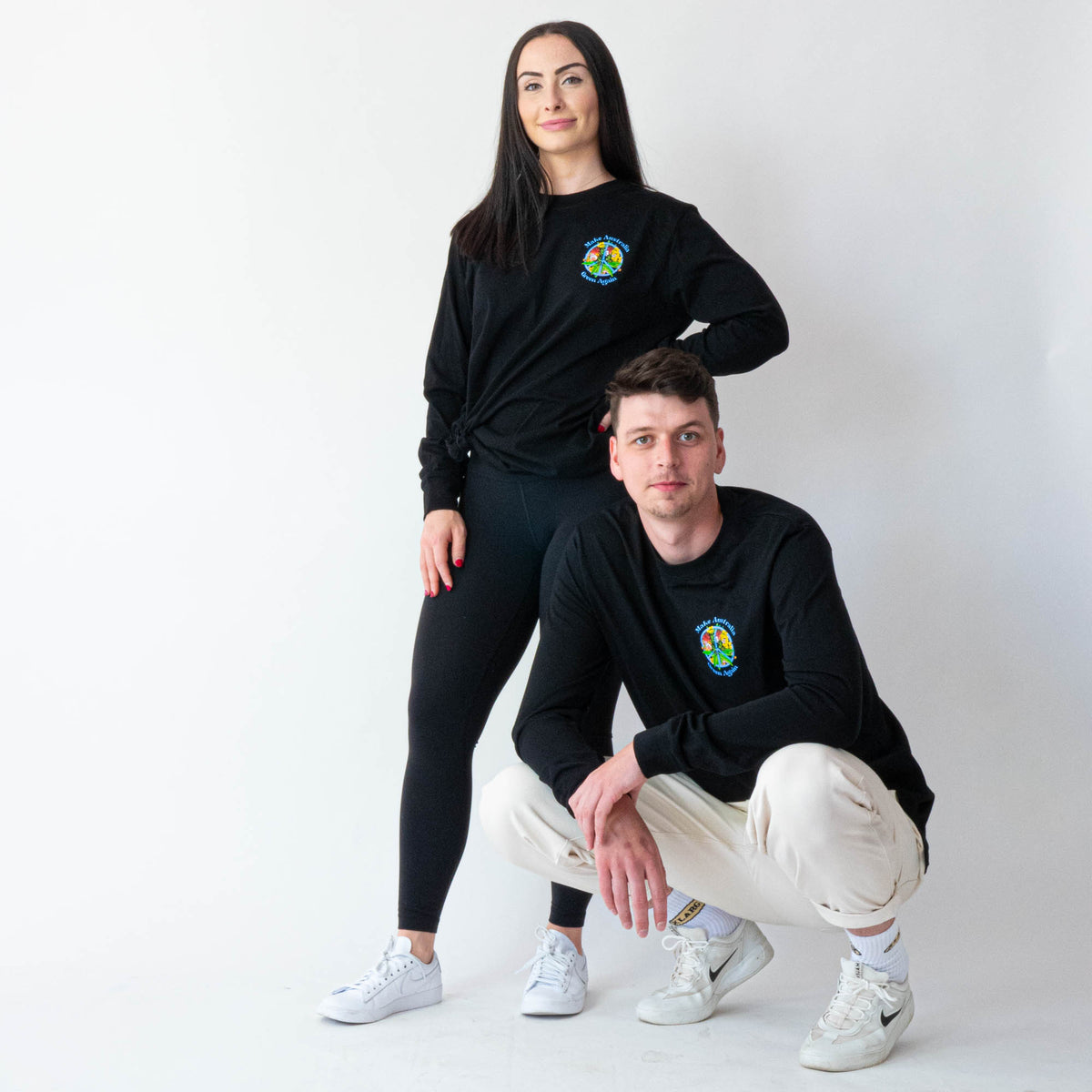 Green Peace Cotton Longsleeve (Unisex)
