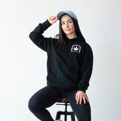 Green Altar Black Cotton Hoodie