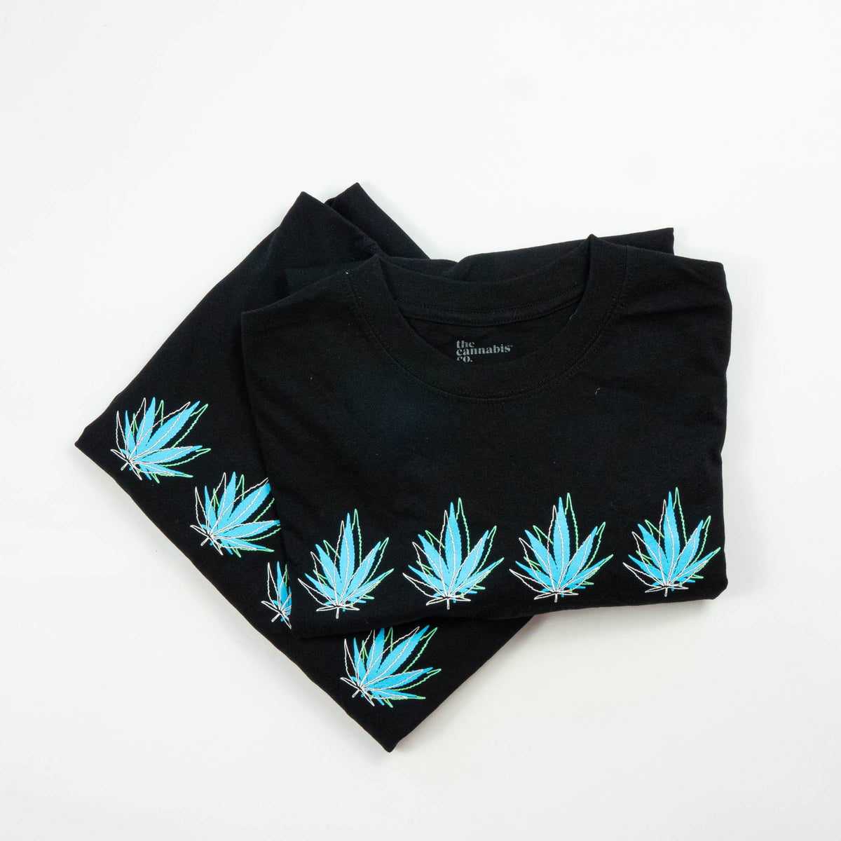 Blue-delic Black Hemp Mens Tee