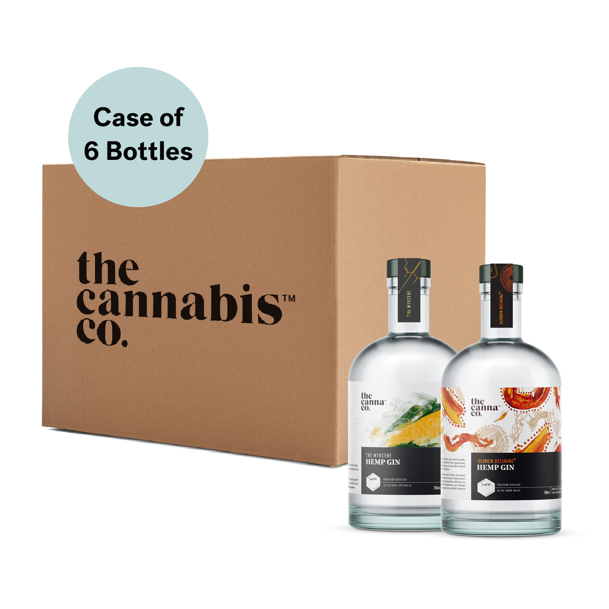 Gin Sample Box – 3 x Jilungin + 3 x Myrcene – Case of 6 x 700ml bottles