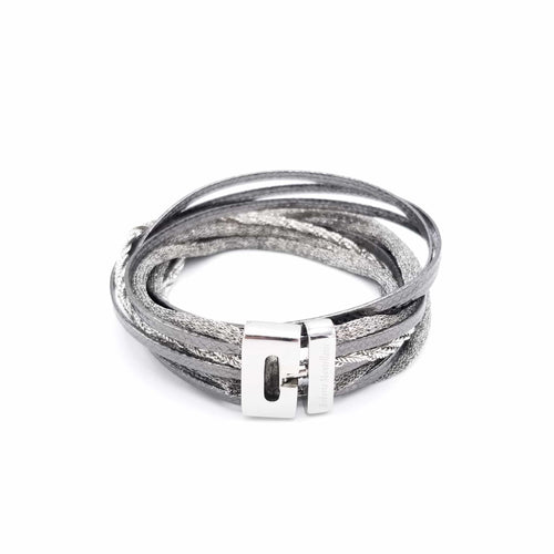 B139 Multimedia Bracelet Anthracite - Selleria Veneta