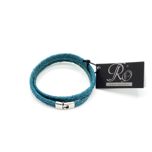 B157 Man-Unisex rope leather Bracelet Caraibi - Selleria Veneta