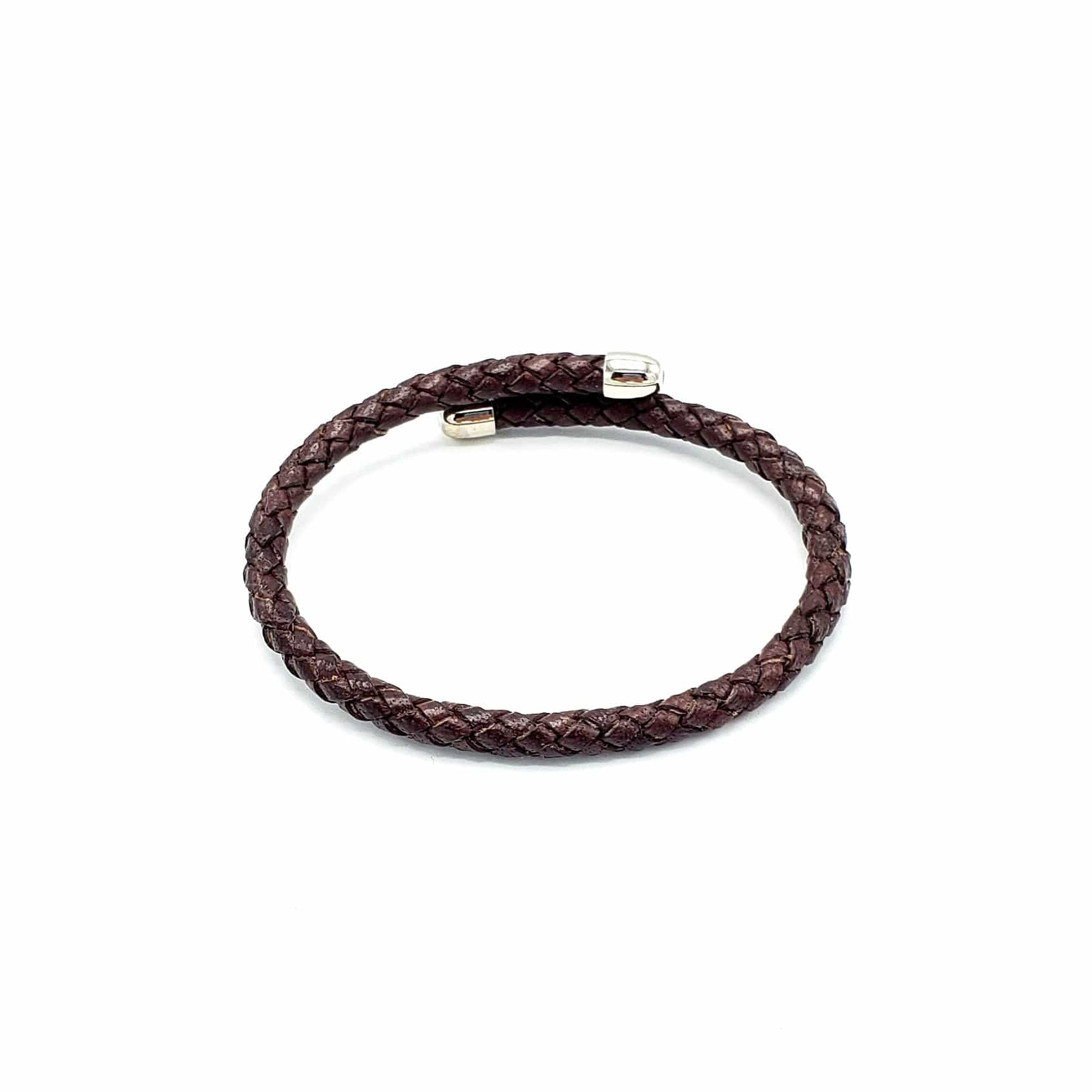 B109 Man-Unisex Semirigid leather Bracelet - Selleria Veneta