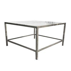 Table Salon Chrome et  Acrylique -Transparent