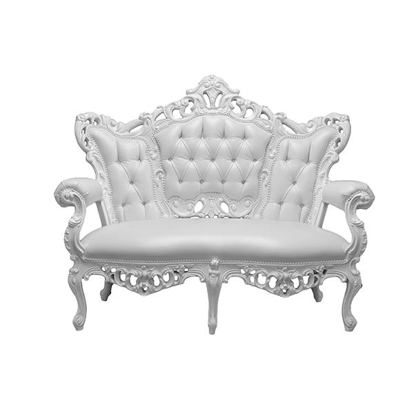 Banquette Style Baroque  Blanc