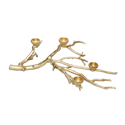 Chandelier Branche or- 4 bougeoirs