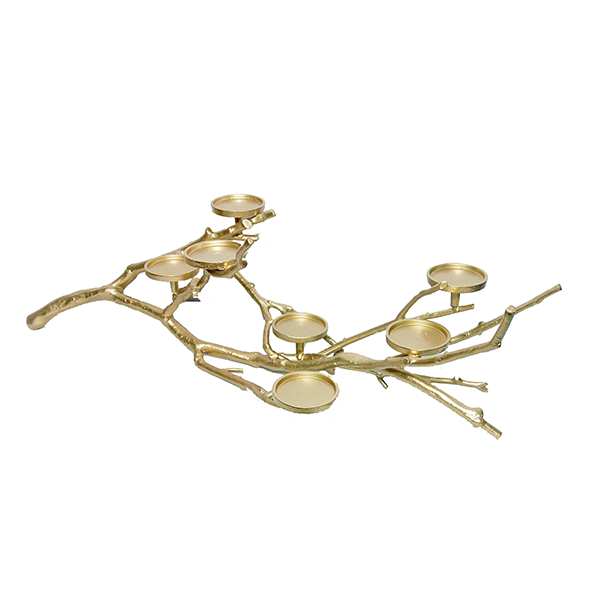 Chandelier Branche or-7 bougeoirs