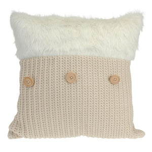 Coussin Tricot Forrure