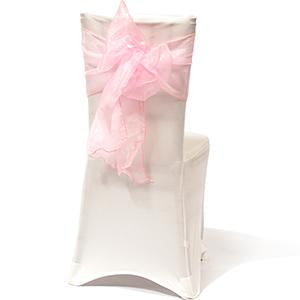Attache Organza Rose Pâle
