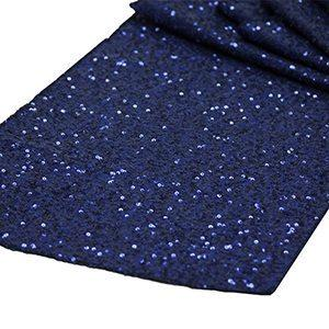 Chemin de Table Paillettes - Bleu Marin
