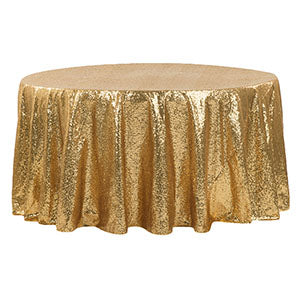 Nappe Ronde Paillettes - Or