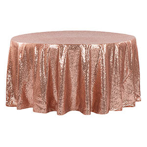 Nappe Ronde Paillettes - Rose Blush