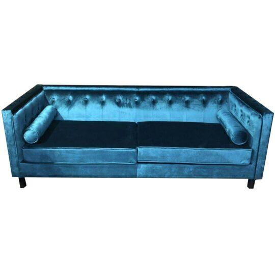 Canapé Manchester Velours Teal