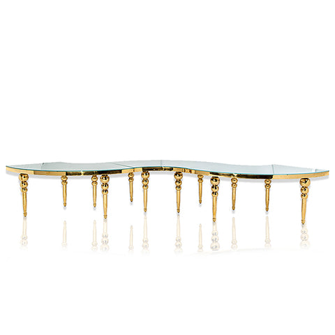 Table Louisa Serpentine - Or