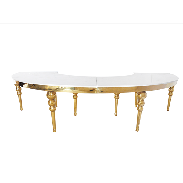 Table Demi Rond Louisa - Or