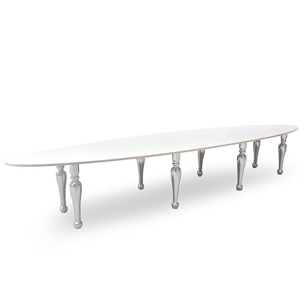 Table Ovale Argent