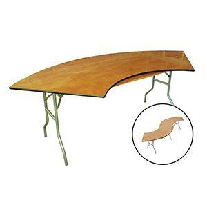 Table Serpentine en Bois