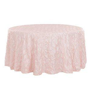 Nappe Ronde Taffetas Big Pinched - Rose Blush